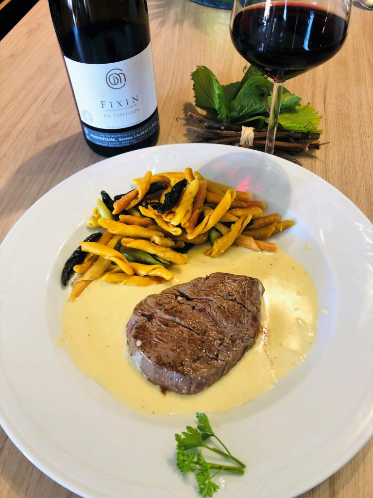 Recette accord mets / vin , bouteille Fixin